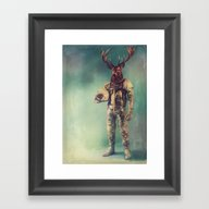 Framed Art Print featuring Without Words by Rubbishmonkey