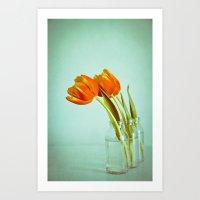 Vintage Tulips Art Print