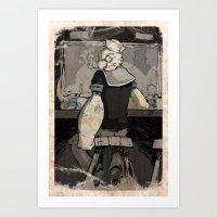 Bluto's Return Art Print