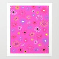 Funkadelic Flowers Art Print