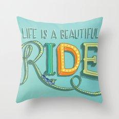 Beautiful Ride Throw Pillow