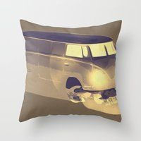 Skull Volkswagen Throw Pillow