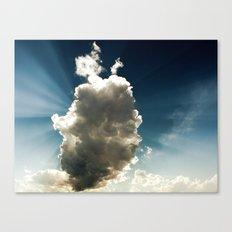 Sun Hidden by Cloud Canvas Print