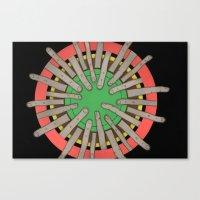 radial blame V Canvas Print