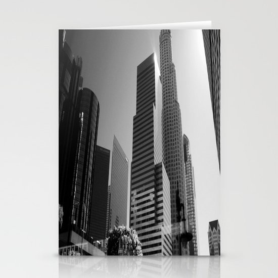Los Angeles Skyscrapers Stationery Card