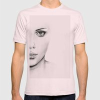 Barely Scarlett  Mens Fitted Tee Light Pink SMALL