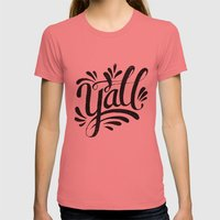 Y'ALL Womens Fitted Tee Pomegranate SMALL