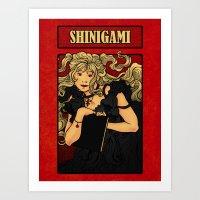 Shinigami Nouveau Art Print