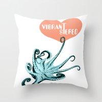 Vibrant Stereo #2 Throw Pillow