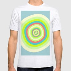 Circles Mens Fitted Tee Ash Grey SMALL