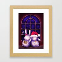 Chubby Bunnies At Christ… Framed Art Print