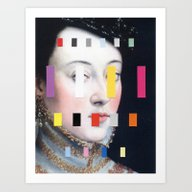 Art Print featuring Portrait With A Spectrum… by Chad Wys