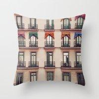 Balconies Throw Pillow
