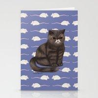Cranky Cat / Shitty Kitt… Stationery Cards