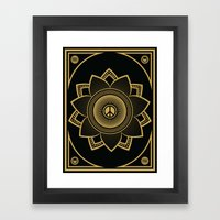 Peace Lotus Framed Art Print