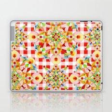 Red Gingham Pastel Mandala Laptop & iPad Skin