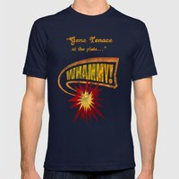 WHAMMY! Mens Fitted Tee Navy SMALL