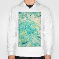 marbling twirl Hoody