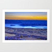 A Titicaca Sunset In Blu… Art Print