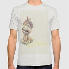 Baby-Pee-a-Little Mens Fitted Tee Silver SMALL