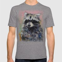 Raccoon Mens Fitted Tee Tri-Grey SMALL