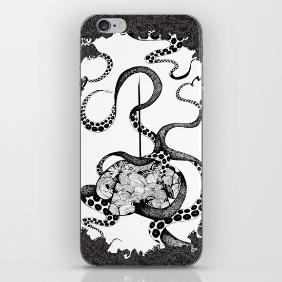 Octopus Munny Poster iPhone & iPod Skin