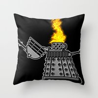 INCINERATE (with Flame) Throw Pillow