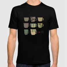 I {❤} Coffee SMALL Black Mens Fitted Tee