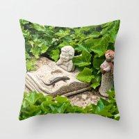 The Booklizard Throw Pillow