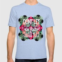 FLOWER TIME Mens Fitted Tee Tri-Blue SMALL