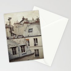 Paris roofs Stationery Cards