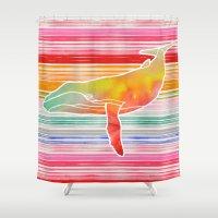 Whale  by Jacqueline Maldonado & Garima Dhawan Shower Curtain