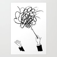 downbeat??  find my beat! Art Print
