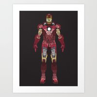 iron man Art Prints featuring Iron Man Iron Man by Josh Topp