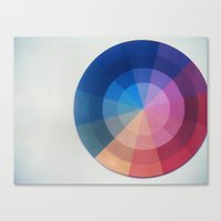 Color Wheel Polaroid Canvas Print