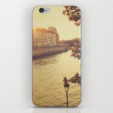 Paris sunset iPhone & iPod Skin