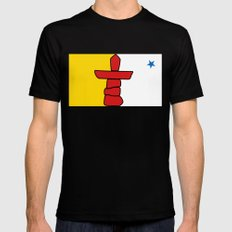 Nunavut territory flag- Authentic version with Inukshuk and blue star Mens Fitted Tee Black SMALL