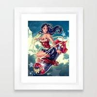 WONDERBOMB Framed Art Print