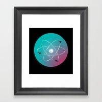 Atomic Formation Framed Art Print