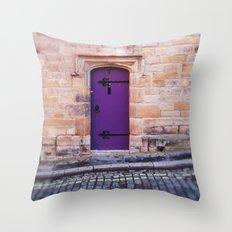 Purple Door Throw Pillow