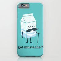 iPhone Cases featuring Got mustache? by Budi Kwan
