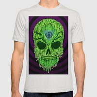 Toxxik Skull Mens Fitted Tee Silver SMALL