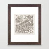Nashville Map Framed Art Print