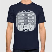 Darth Mall Mens Fitted Tee Navy SMALL