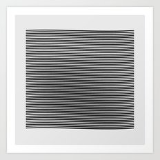 #372 field of lines Art Print