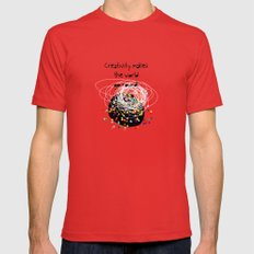 Creativity makes the world go round! Mens Fitted Tee Red SMALL