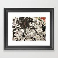 At The Deep Black Bottom… Framed Art Print