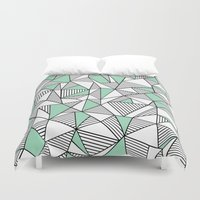 Abstraction Lines With M… Duvet Cover