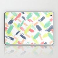 Hand painted summer pastel brushstrokes pattern Laptop & iPad Skin