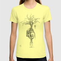 Outpouring of the heart Womens Fitted Tee Lemon SMALL